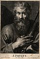 Saint Paul. Line engraving by C. van Caukercken after Sir A. Wellcome V0032792.jpg