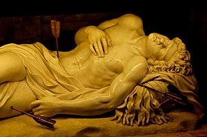 Sculpture of Saint Sebastian