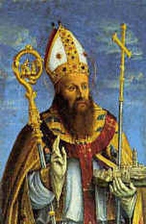 Saint Domnius - Saint Domnius holding the city of Split