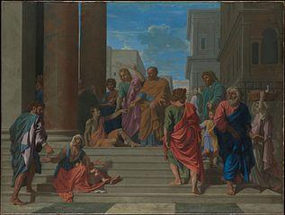 Saint Pierre et saint Jean guérissant le boiteux