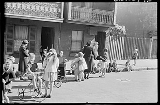 Surry Hills, New South Wales - A Surry Hills street, 1940s