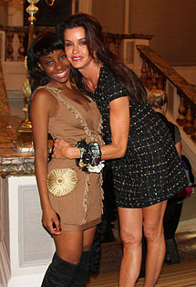 Samata Angel and Janice Dickinson during London Fashion Week.jpg