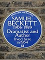 Samuel Beckett 1906-1989 dramatist and author lived here in 1934.jpg