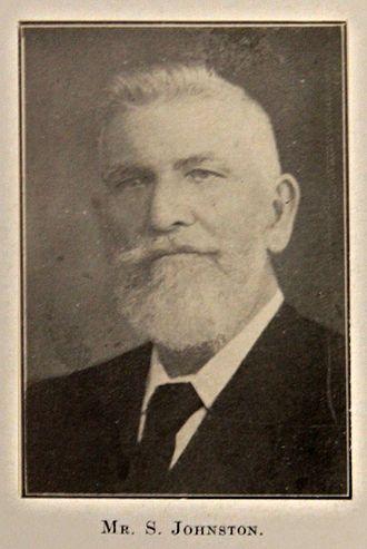 Samuel Johnston (Waterview) - A photo of Samuel Johnston Snr, circa 1890.