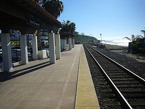San Clemente station - The San Clemente station platform