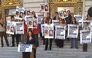 2009 imprisonment of American journalists by North Korea - Vigils for journalists Laura Ling and Euna Lee were held throughout the United States on June 3, 2009.