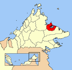 Location in Sabah and மலேசியா