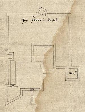 Sandown Castle, Isle of Wight - Image: Sandown castle plan 1559