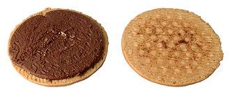 Sandwich cookie - A split sandwich cookie