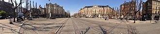 Sankt Thomas Plads - Image: Sankt Thomas Plads panorama