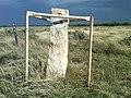Santa Fe Trail stone marker 684 at Cimarron National Grassland (2c043a5c09364cbe907562ab4c790f06).JPG