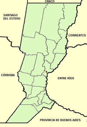 Santa Fe province (Argentina), departments and capital.png