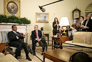 Denis Sassou Nguesso - Denis Sassou Nguesso and George W. Bush in the Oval Office in 2006.