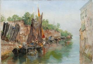 Scene from a Venetian Canal. Sketch
