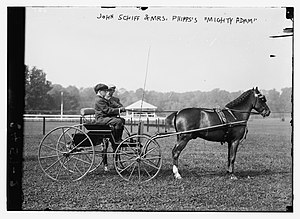 Piping Rock Club - John Mortimer Schiff circa 1912-1913 at the Piping Rock Horse Show