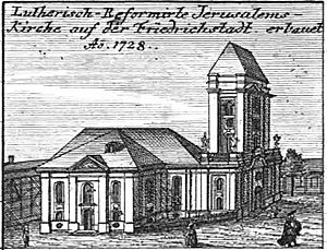 Jerusalem Church (Berlin) - Jerusalem Church with its tower stump in 1757.