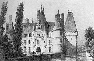 Château de Maintenon - Lithograph of the 19th century by Bichebois