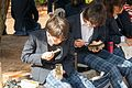 Schoolboys taking lunch in Maruyama Park (11809979553).jpg