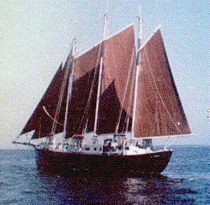 Donald Attig - Attig's Schooner under full sail