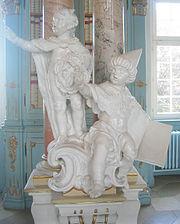Schussenried Kloster Bibliothekssaal Irrlehren Nestorianer und Arius