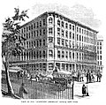 Scientific American office, 37 Park Row, New York, 1859.jpg