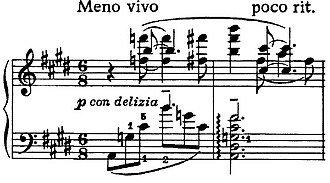 Mystic chord - Image: Scriabin Sonata Op 53 Meas 263 264
