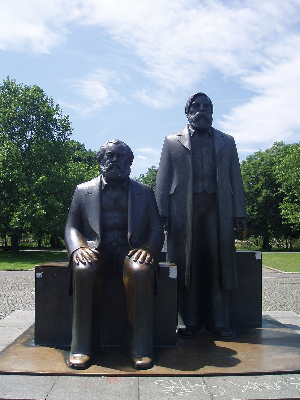 Sculpture of Marx and Engels in the Marx-Engels-Forum