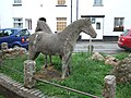 Sculpture of two Dartmoor ponies, Moretonhampstead - geograph.org.uk - 1395256.jpg
