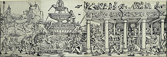 Fountain of Youth - Sebald Beham, woodcut, 1531