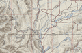Secondary State Highway 1P topo, 1951.png
