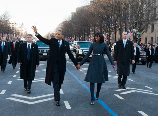 Secret Service agents protecting President Obama and First Lady Michelle Obama