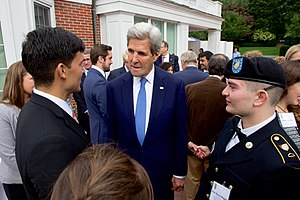 Institute for Business in the Global Context - U.S. Secretary of State John Kerry chats with Fletcher students