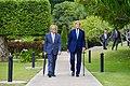 Secretary Kerry and Chargé DeLaurentis Walk to Ceremony (20588160261).jpg