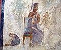 Seduzione tra marte e venere, alla presenza di un amorino e ancella, da casa dell'amore punito a pompei, 9249, 02.JPG