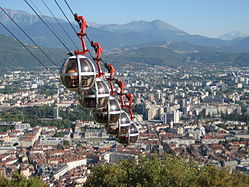 Famous Grenoble cable car