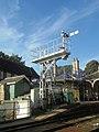 Semaphore signal gantry, Knaresborough railway station (24th August 2019).jpg