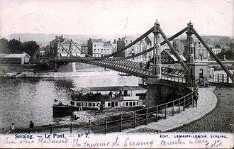 Seraing - Image: Seraing Pont 1902