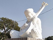 A Recent Statue Of Shah Abdul Latif Bhittai Sculpted By Nadir Ali Jamali Currently Placed In Front The Bhit Rest House