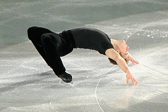 Cantilever (figure skating) - Image: Shawn Sawyer Cantilever 2006 Skate Canada