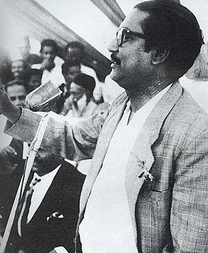 Bangladesh Awami League - Rahman announcing the Six Points in Lahore, 1966