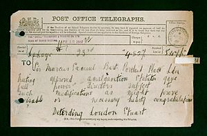 Henri Deterding - Message to Marcus Samuel from Deterding on the Royal Dutch Shell merger in 1907.