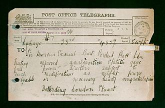 General Post Office - Telegraph sent in 1907.