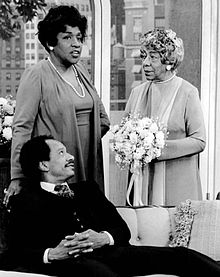 Sherman Hemsley Isabel Sanford Zara Cully The Jeffersons 1976.JPG