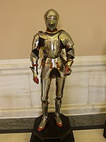 Shiny suit of armour (14109860107).jpg
