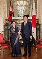 Shinzo Abe and Bidhya Devi Bhandari at the Enthronement of Naruhito (2).jpg