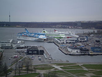 Tallinn Passenger Port - Image: Ships in the port of Tallin