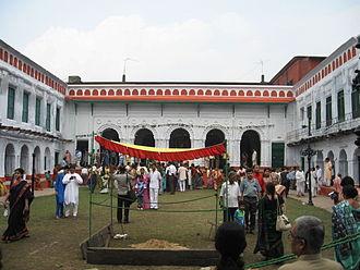 Nabakrishna Deb - Image: Shovabazar Durga Puja