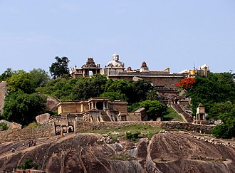 Shravanabelagola - The Gommateshwara statue dated 978-993 on Vindhyagiri Hill