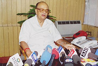 Arjun Singh - Arjun Singh assumes the charge of Union Minister for Human Resource Development in New Delhi on May 24, 2004