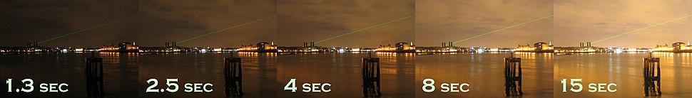 Shutter speed in Greenwich